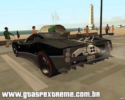 Pagani Zonda Tricolore 2010 para grand theft auto