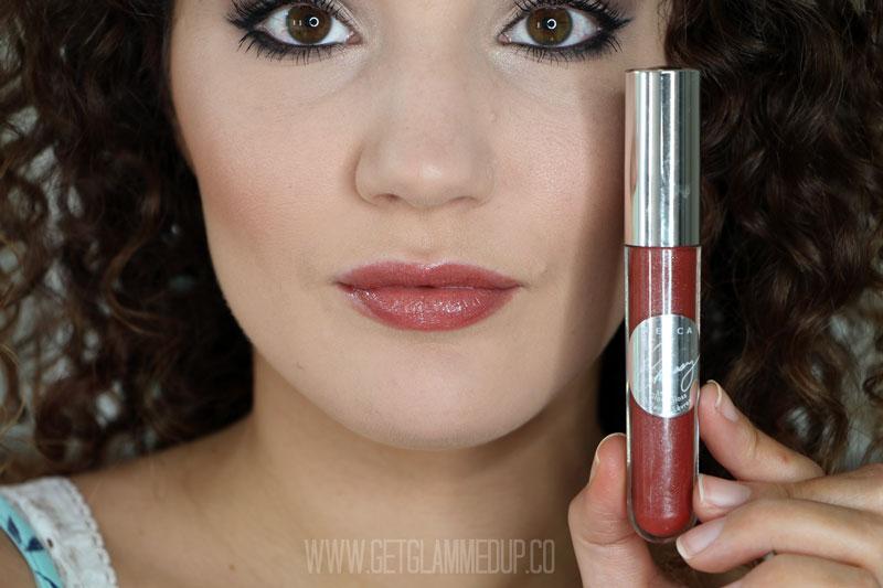 BECCA x Chrissy Teigen Glow Lip Gloss Nectar Swatch