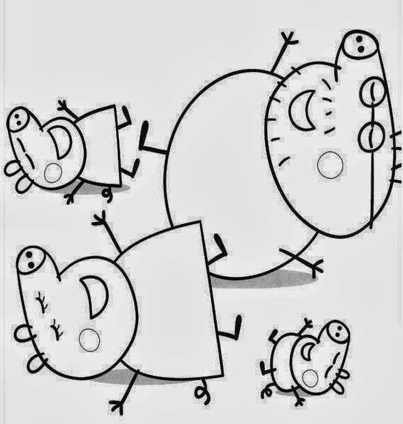 Baú Da Web: Desenhos Da Peppa Pig Para Colorir