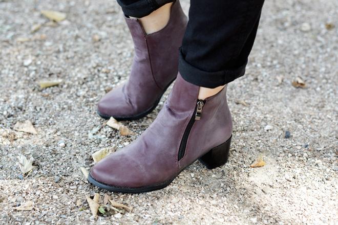 jesienne bordowe buty