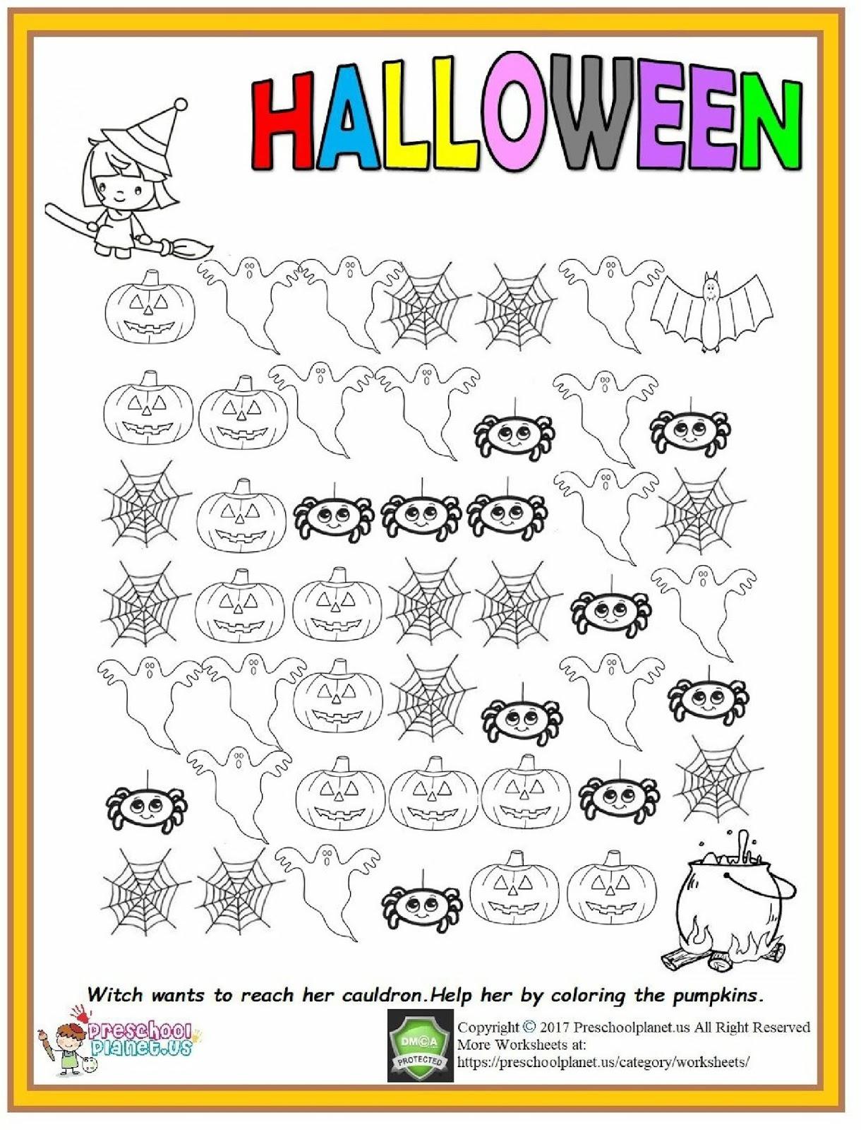 Halloween Number Order Worksheet