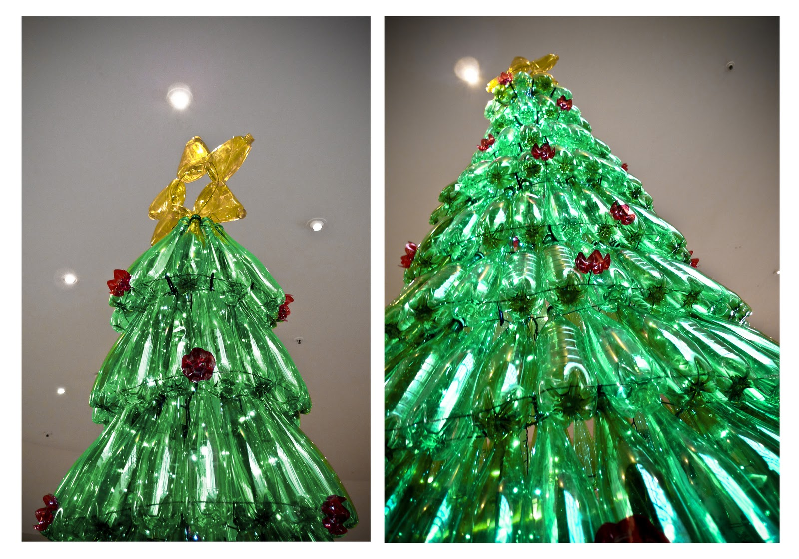 Christmas decoration made from recycled materials for Recycled decoration