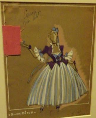 Fost costume pour Blonde Enlèvement au sérail  1946