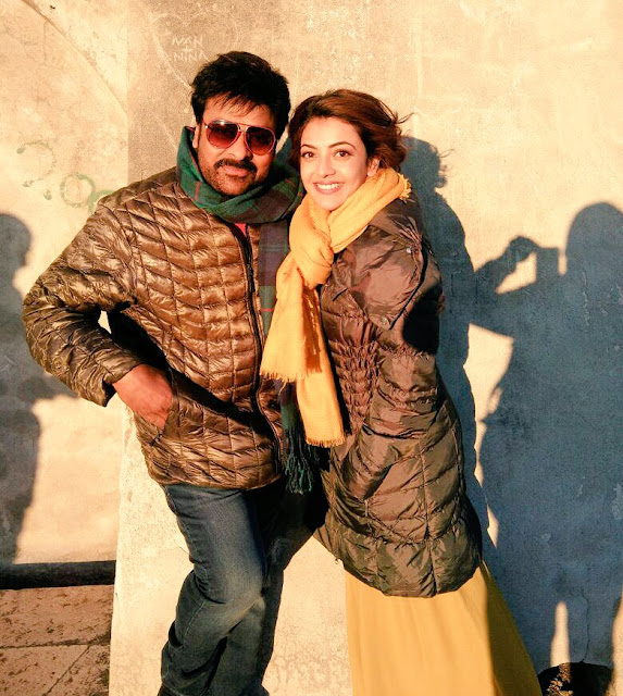 Chiranjeevi, Kajal in  Khaidi No 150 Song Shoot Stills