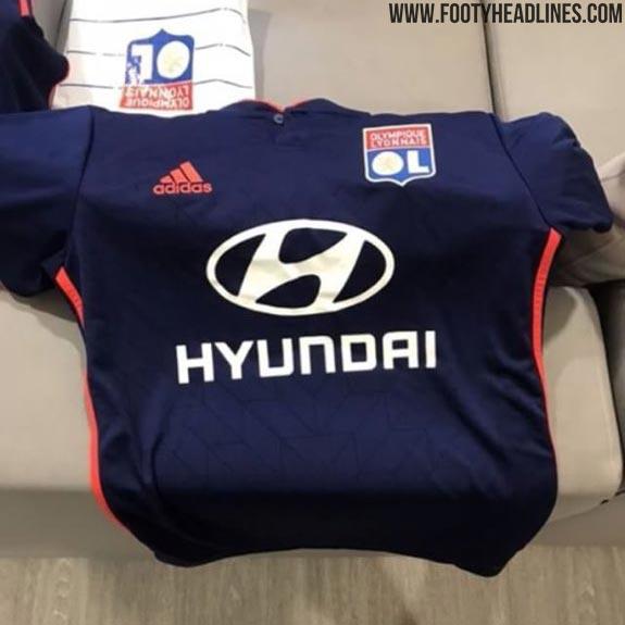 adidas Olympique Lyon 201920 Auswärtstrikot Dunkelblau