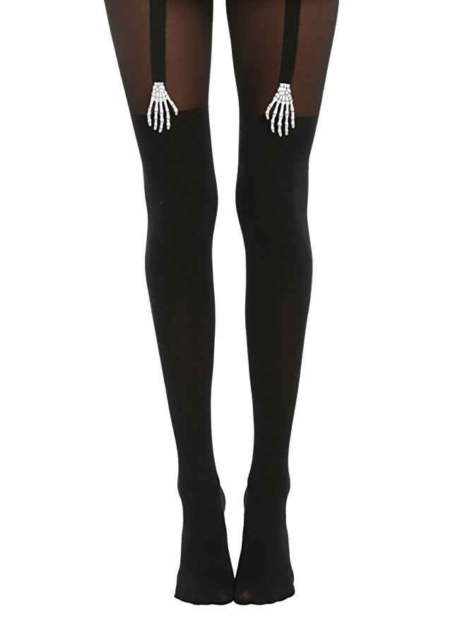 Gothic skeleton hands tights