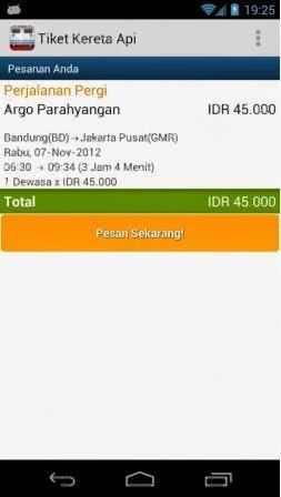 Pesan Tiket KA dari Android