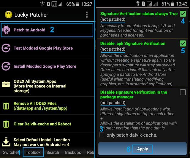 Cara Mudah Disable Signature Verification Android Dengan Lucky Patcher