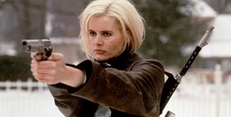 Geena Davis takes out many bad guys in The Long Kiss Goodnight.