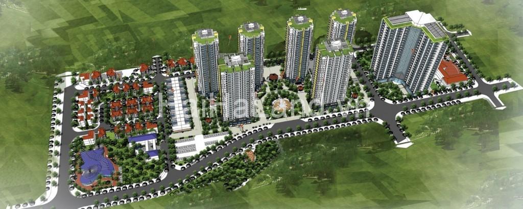 Phối cảnh tổng quan dự án chung cư Mipec Kiến Hưng - Hà Đông