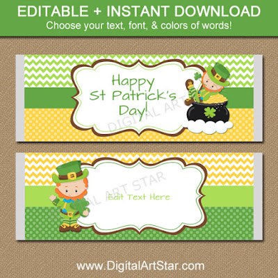 st patricks day party favors large candy wrappers