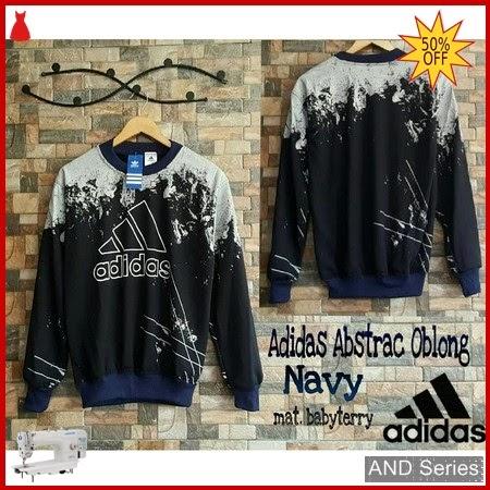 AND164 Sweater Wanita Adidas Abstrac Oblong Biru BMGShop