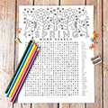 Spring Coloring Word Search