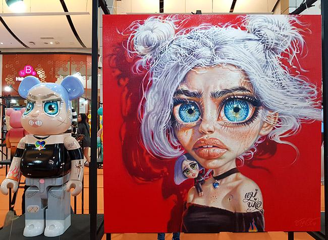 "Anchalee Arayapongpanich - ""Color Me Bear 2018"" custom Be@rBrick toy"