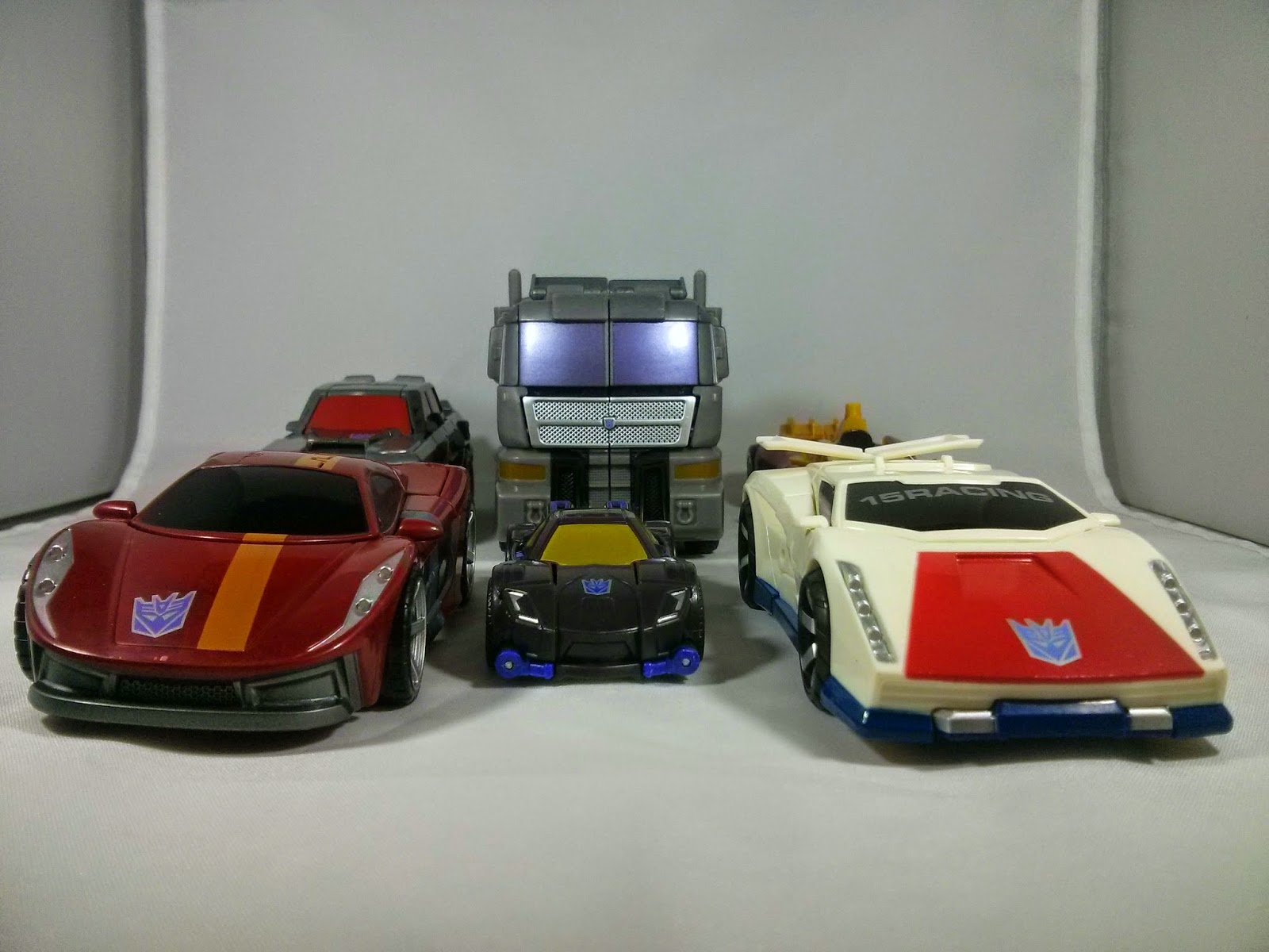 a group shot of all of the cars
