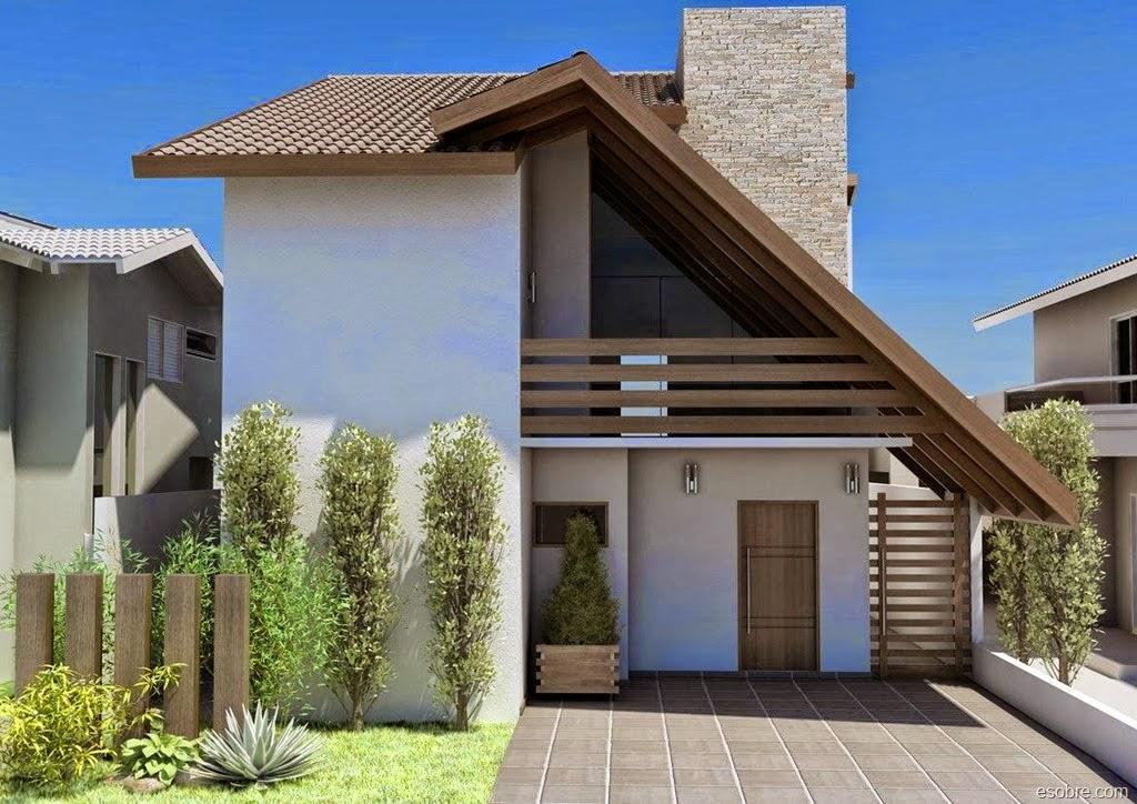 Fachadas de casas pequenas bonitas e modernas blog for Fachadas pequenas