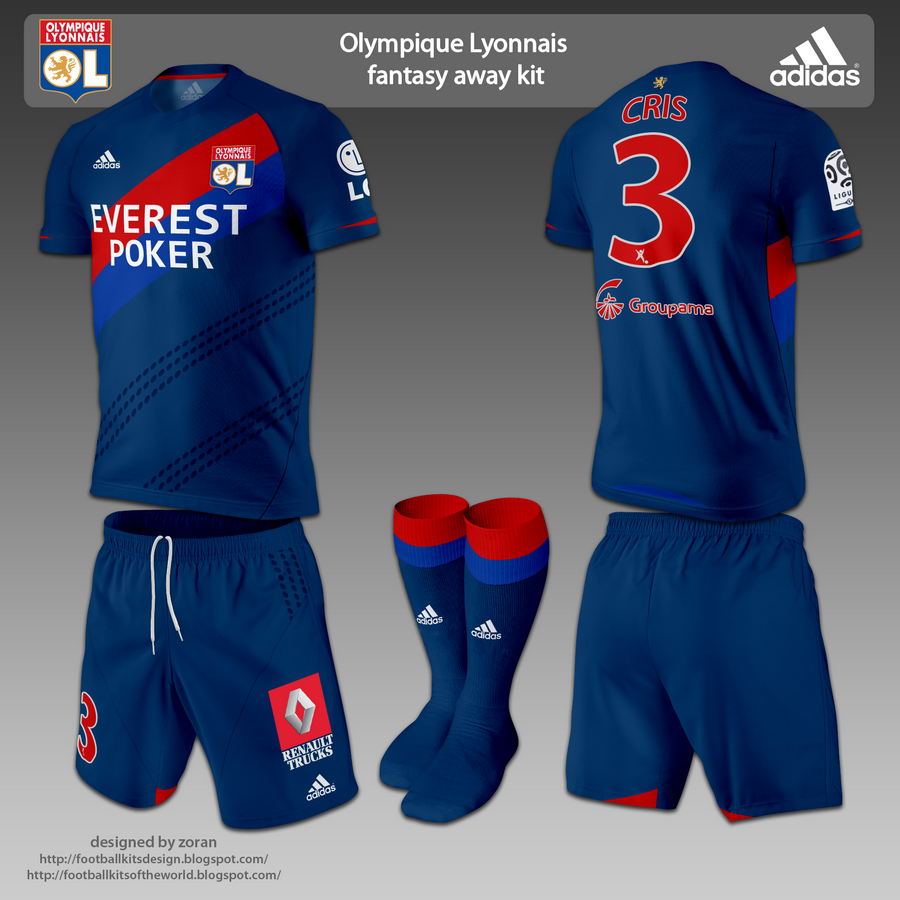 As usual for Olympique the third kit is one used in European Cups b133e4e6a