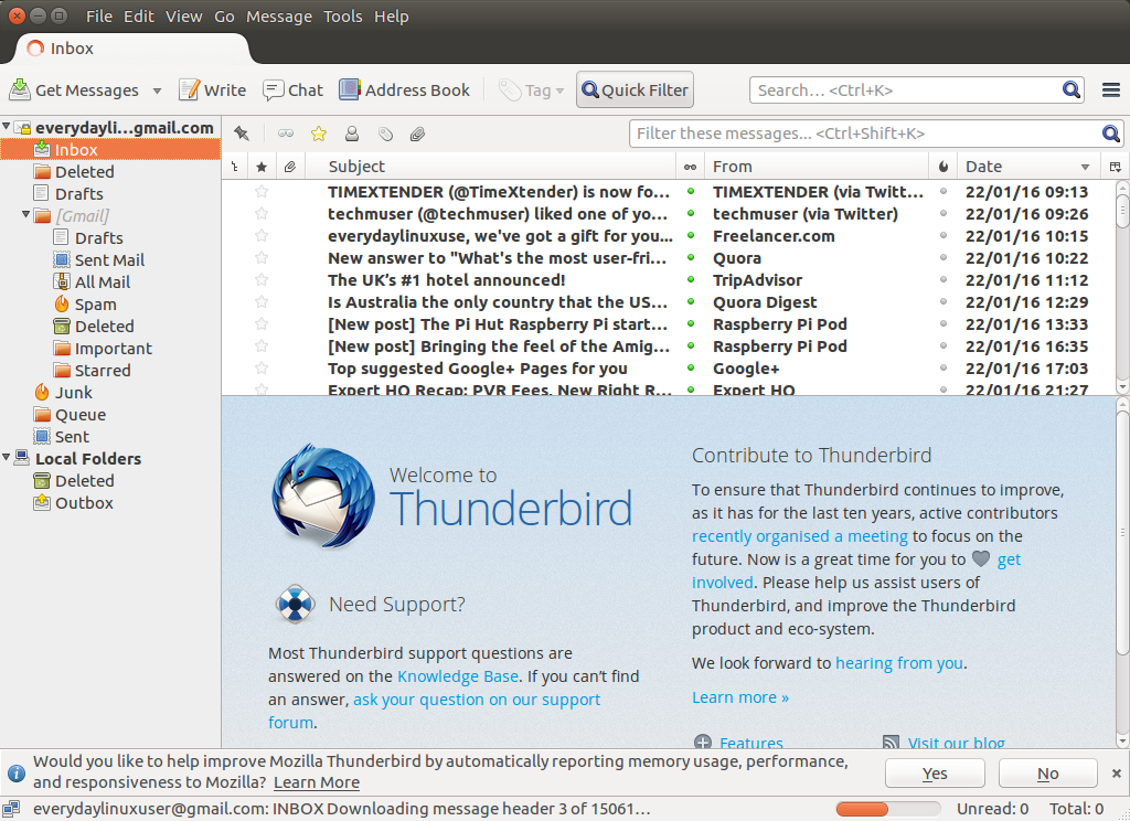 video how to set up email list in thunderbird