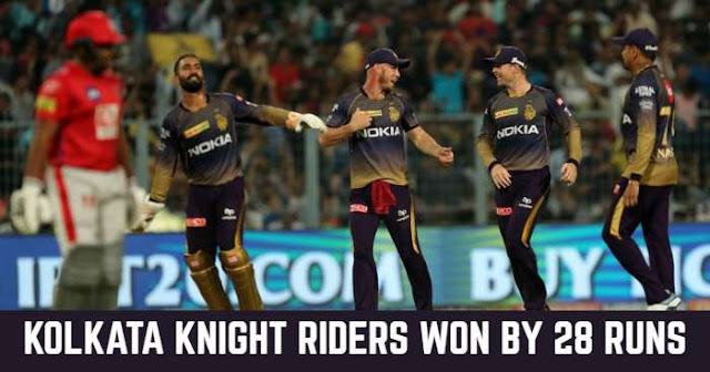 Kolkata Knight Riders won by 28 Runs