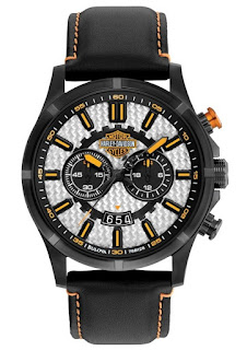 Harley Davidson By Bulova Leather Band Chronograph 78B128