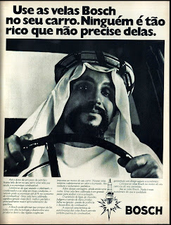 propaganda velas Bosch - 1976. brazilian advertising cars in the 70. os anos 70. história da década de 70; Brazil in the 70s; propaganda carros anos 70; Oswaldo Hernandez;