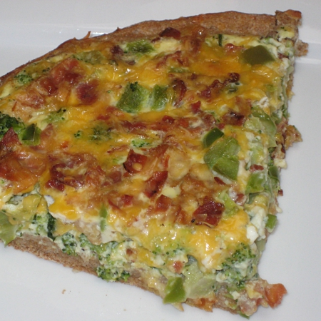 Bacon Broccoli Breakfast Pizza