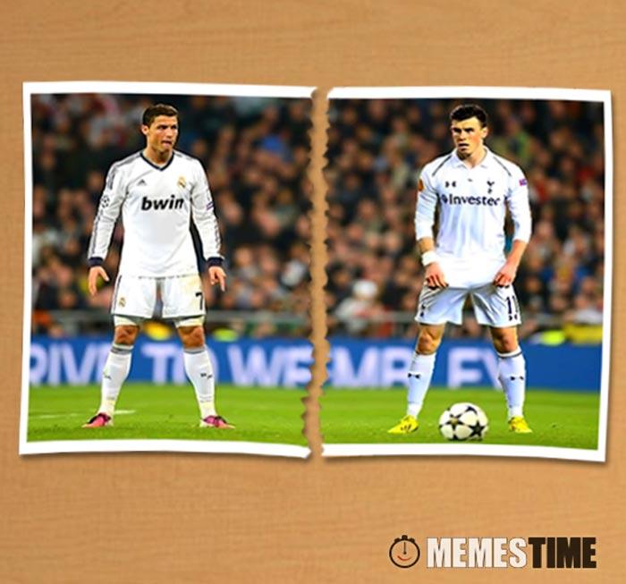Meme Cristiano Ronaldo e Gareth Bale – Amigos, amigos, Seleções à parte?