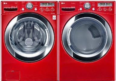 lg red ultra large capacity laundry system with steam technology