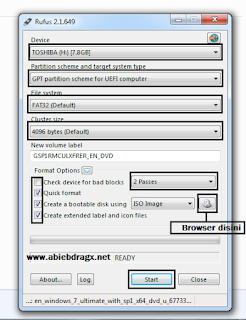 cara install windows 7, 8, 10, GPT, MBR, Rufus