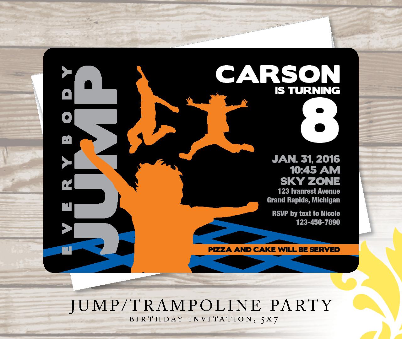 Nealon Design: JUMP! . birthday invitation