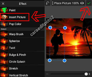 edit foto siluet sunset