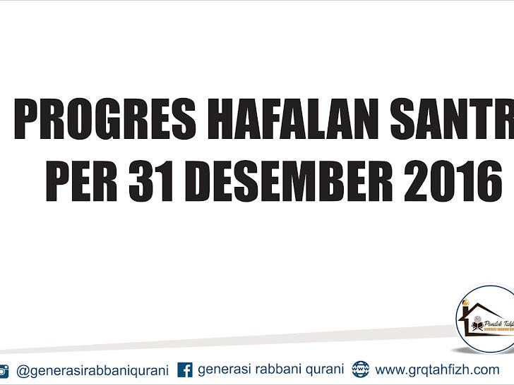 PROGRES HAFALAN SANTRI PER 31 DES 16