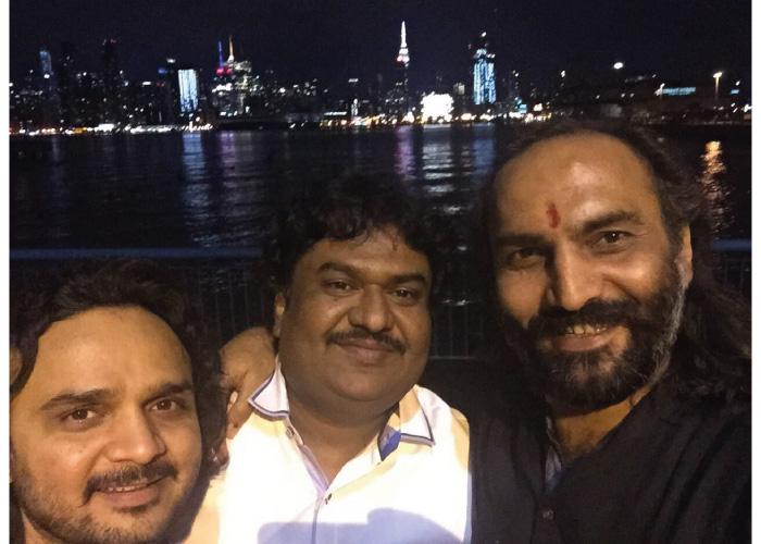 Sairam Dave with friends