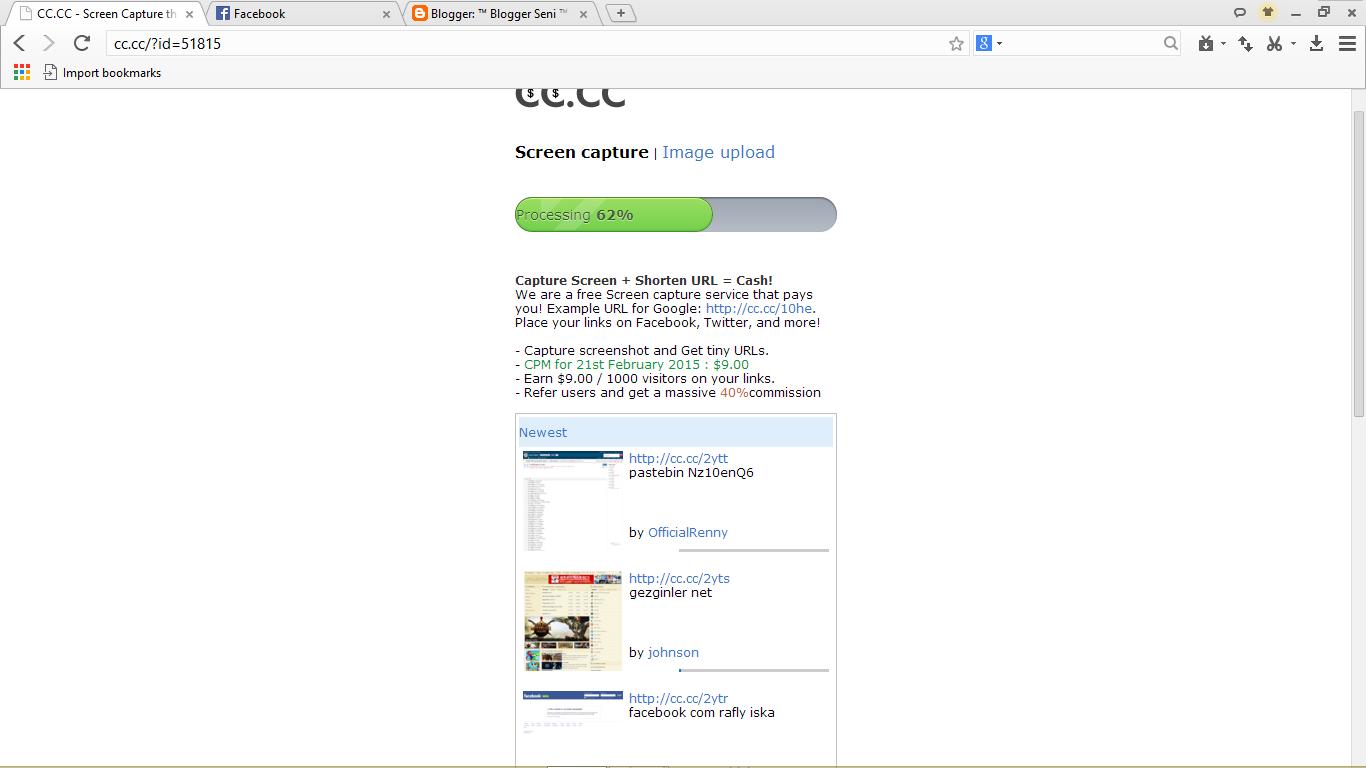 Screen Shoot Website Dibayar