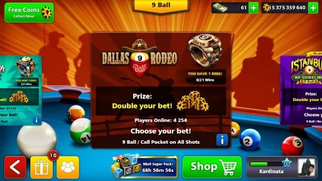 trik bermain game billiar android 8 ball pool