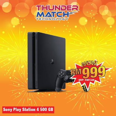 Thunder Match Technology Malaysia Sony Playstation PS 4 500GB DIscount Offer