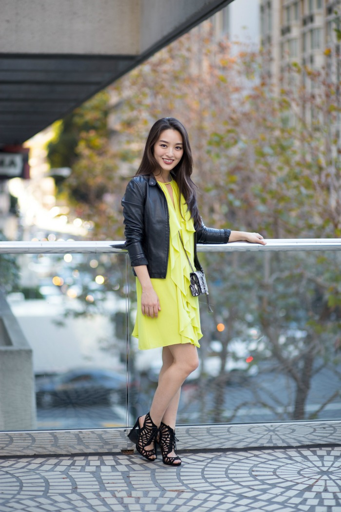 how to wear a neon dress