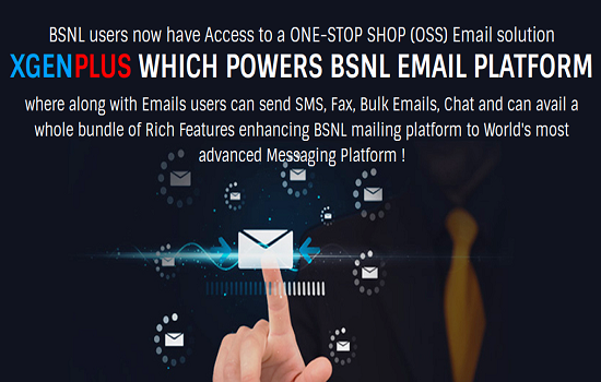 BSNL's Next Generation Email Service - One Stop Shop Email Solution - is Now Live for all Broadband Customers across India