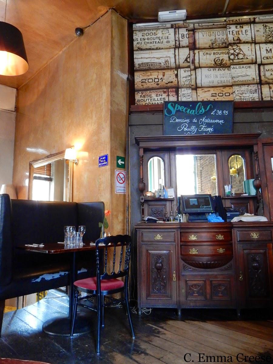Le Garrick Restaurant Review corner of French Romance in Covent Garden
