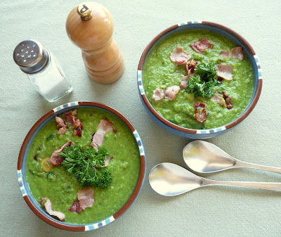 Classic Pea Soup Made With Fresh Peas