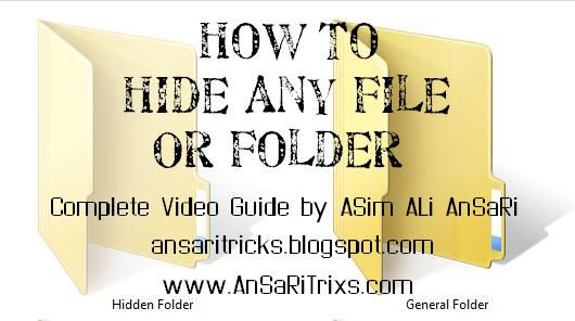 How To Hide Any File Or Folder in Windows XP, Seven 7 (Video Guide)
