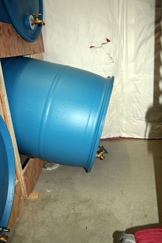 Water Storage Rack Plans Are The Barrels Slanted Like The Shelves