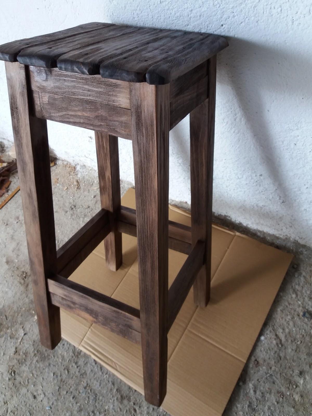 Artesan a r stica en madera taburetes de madera - Taburetes de madera ...