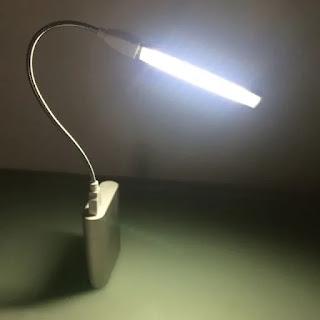 mini usb flessibile led con power bank