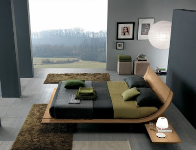 Stylish Bed Design For The Interior Of A Modern Bedroom