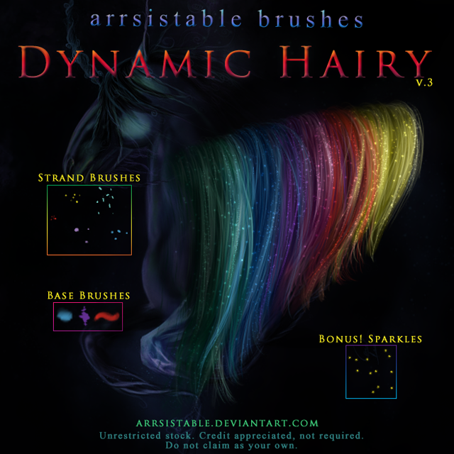 Dynamic Hairy Brushes