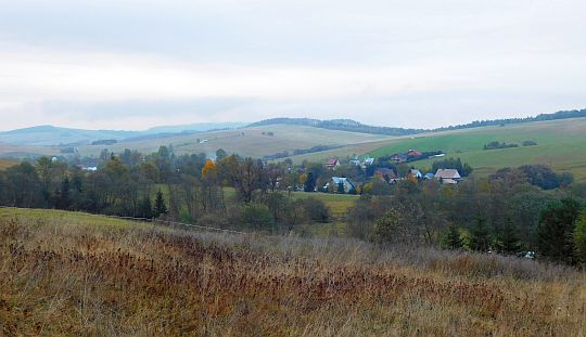 Widok na wieś Muszynka.