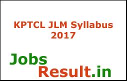 KPTCL JLM Syllabus 2017