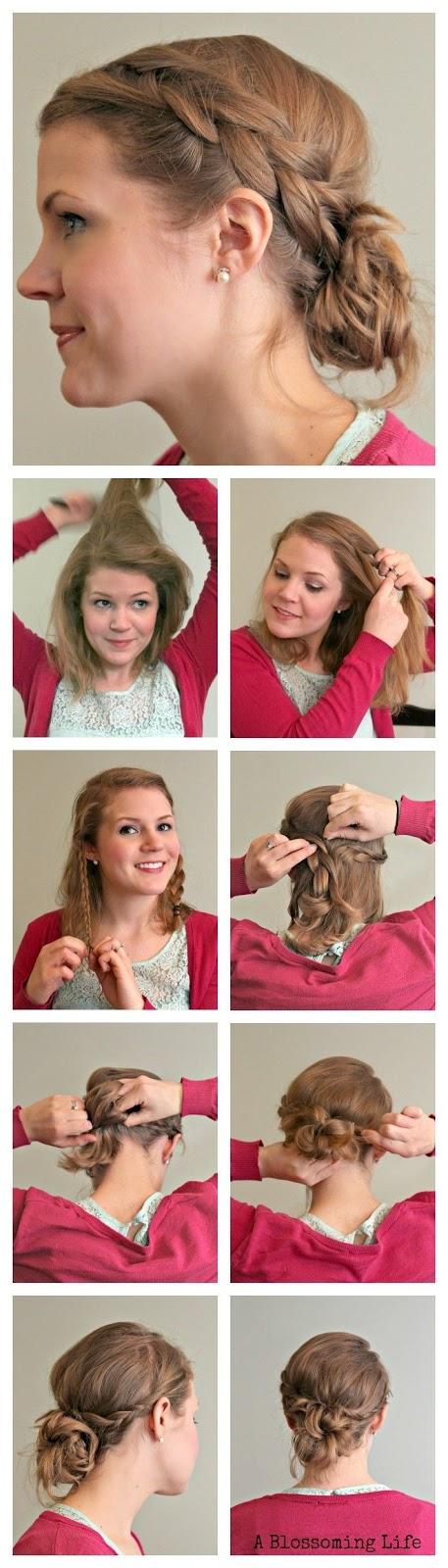 peinados recogidos faciles paso a paso