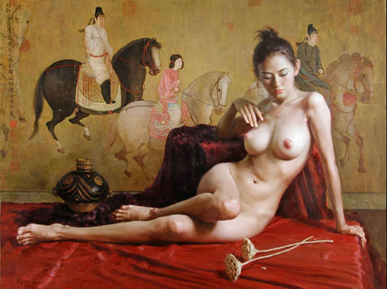 Arte exótico y erótico de guan zeju 5